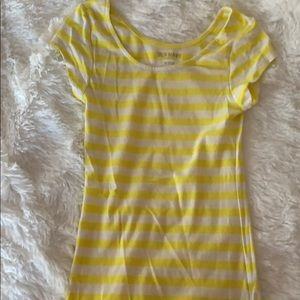 Yellow and White Old Navy T Shirt